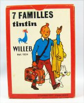 Tintin - Card game 7 families Willeb (1977)