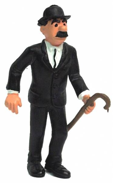 Tintin - Comic Spain Pvc figure - Thomson stick on left