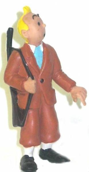 Tintin - Comic Spain Pvc figure - Tintin rifle on shoulder blond hair