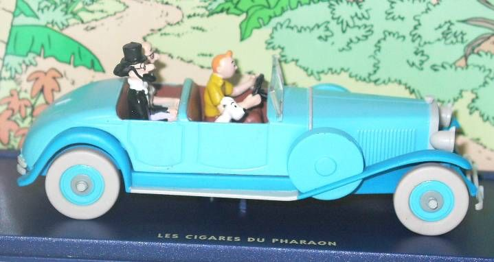 Tintin - Editions Atlas - N° 05 Mint in box Lincoln Torpédo from The Pharao\\\'s cigars
