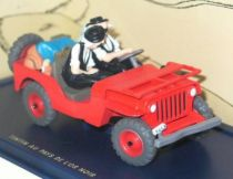 Tintin - Editions Atlas - N° 07 Mint in box red Jeep Willys from Land of black gold