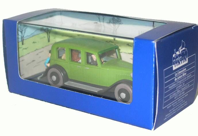 Tintin - Editions Atlas - N° 09 Mint in box green Mitsuhirato\'s limousine from The blue lotus