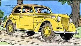 Tintin - Editions Atlas - N° 19 Mint in box Opel Olympia from Ottokar\'s sceptre