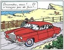 Tintin - Editions Atlas - N° 40 Mint in box Doc Muller\'s Jaguar from The black island