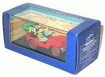 Tintin - Editions Atlas - N° 44 Mint in box red Jeep from Land of black gold cover