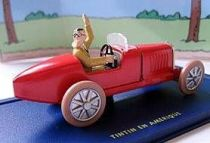 Tintin - Editions Atlas - N° 54 Mint in box Bobby Smiles race car from Tintin in America