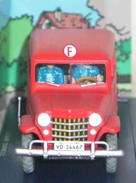 Tintin - Editions Atlas - N° 57 Mint in box Firemen Jeep from The Calculus affair