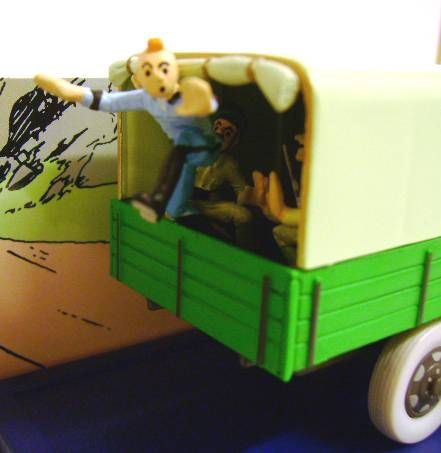 Tintin - Editions Atlas - N° 63 Mint in box Military Truck from Tintin and the Broken Ear