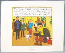 Tintin - Hergé-Moulinsart 2010 - Set of 3 Strip (Comic Art) Flight 714 extracts