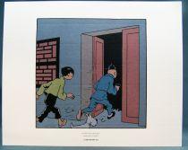 Tintin - Hergé-Moulinsart 2010 - Set of 3 Strip (Comic Art) The Lotus Blue extracts