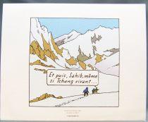 Tintin - Hergé-Moulinsart 2010 - Set of 3 Strip (Comic Art) Tintin in Tibet extracts