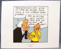 Tintin - Hergé-Moulinsart 2011 - Jeux de 3 Planches (Extrait de L\'Etoile Mystérieuse)