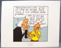 Tintin - Hergé-Moulinsart 2011 - Set of 3 Strips (Comic Art) The Shooting Star extracts