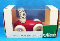Tintin - Jouet en Bois Vilac - Milou en Voiture (neuf en boite)