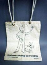 Tintin - Lombart 1979 - Fabric Bag \'\'Tintin\'s jubilee\'\'