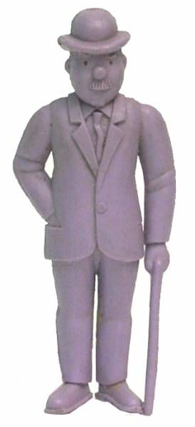 Tintin - Premium monocolor figure Esso Belgium - Thomson stick in left hand (purple)