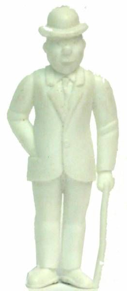 Tintin - Premium monocolor figure Esso Belgium - Thomson stick in left hand (white)