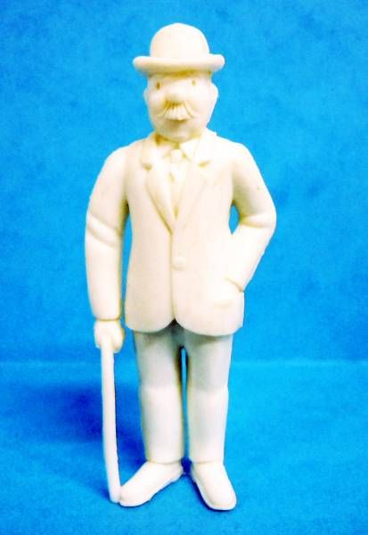Tintin - Premium monocolor figure Esso Belgium - Thomson stick in right hand (white)