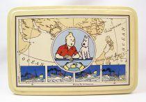 Tintin - Tropico DiffusionTin Cookie Box (Rectangular) - Tintin & Snowy