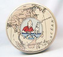 Tintin - Tropico DiffusionTin Cookie Box (Round) - Tintin & Snowy