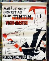 Tintin - Vinyl Advertising \'\'Club Tintin View-Master\'\' (Jean LE MOING) 1961