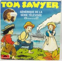 Tom Sawyer - Disque 45T - G�n�rique Le Petit Monde de Tom Sawyer - Polydor 1982