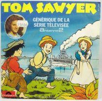 Tom Sawyer - Disque 45T - Générique Le Petit Monde de Tom Sawyer - Polydor 1982