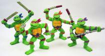 Tortues Ninjas - Set de 4 figurines pvc Bully