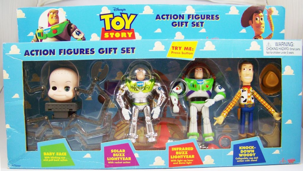 Toy Story Action Figures Set : Toy story think way action figures gift set woody