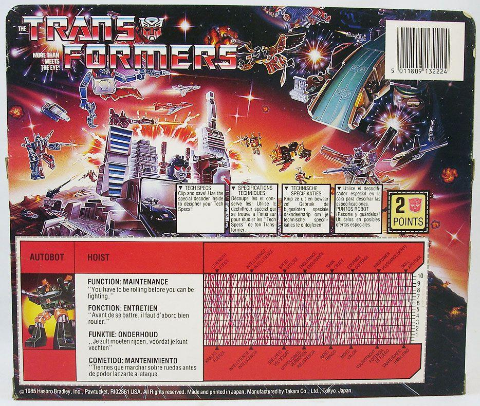 Transformers G1 - Autobot - Hoist