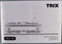 Trix 22031 Ho Manuel Utilisation Notice Locomotive BB Br E10 1266 de la Db