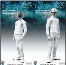"TRON Legacy - Set of 2 12\"" Daft Punk figures - Guy Manuel de Homen-Christo & Thomas Bangalter - Medicom Real Action Heroes"