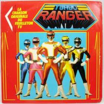Turbo Ranger - Disque 45Tours - Bande Originale du feuilleton Tv - AB Kid 1990