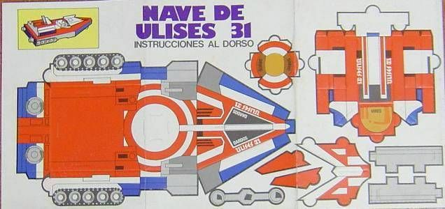 Ulysses 31 - Sticker album with Shuttle cardboard model