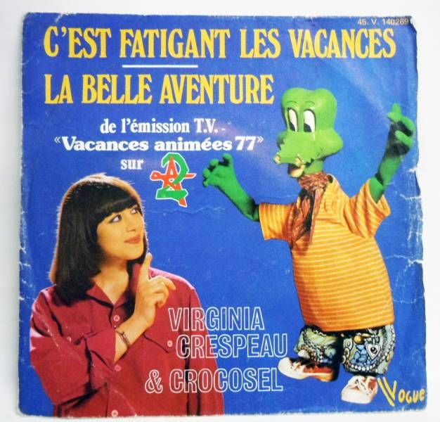 Vacances Animées 1977 (Viginia Crespeau & Crocosel) - Mini-LP Record - Vogue Records 1977