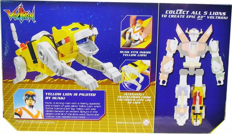 Voltron - Mattel - Yellow Lion & Hunk