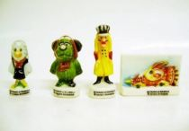 Wacky Races - Dick Dastardly, Muttley, Carrier Pigeon & Racing Car - set of 4 Cake Premiums
