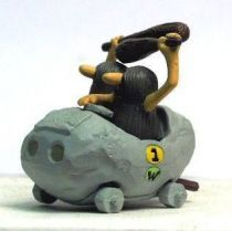 Wacky Races - Gashapon - The Slag Brothers in the Boulber Mobile