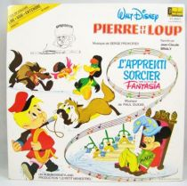 Walt Disney Pierre et le Loup  L\'Apprenti Sorcier (Fantasia) - Disque histoire racontée 33T - Disque Ades 1979 01