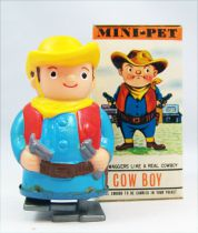 Wind-Up - Mini-Pet Tomy - Cow Boy (mint in box)