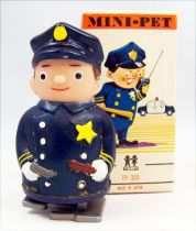 Wind-Up - MIni-Pet Tomy - Police Man (mint in box)