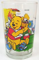 Winnie the Pooh - Amora mustard glass - Winnie, Eeyore, Tiger, Rabbit and honey pots Rabbit