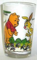 Winnie the Pooh - Amora mustard glass - Winnie and Coco rabbit