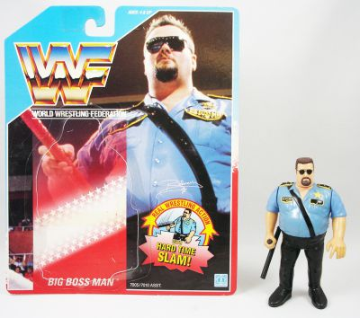 Wwf Hasbro Big Boss Man V 1 Loose With Usa Cardback