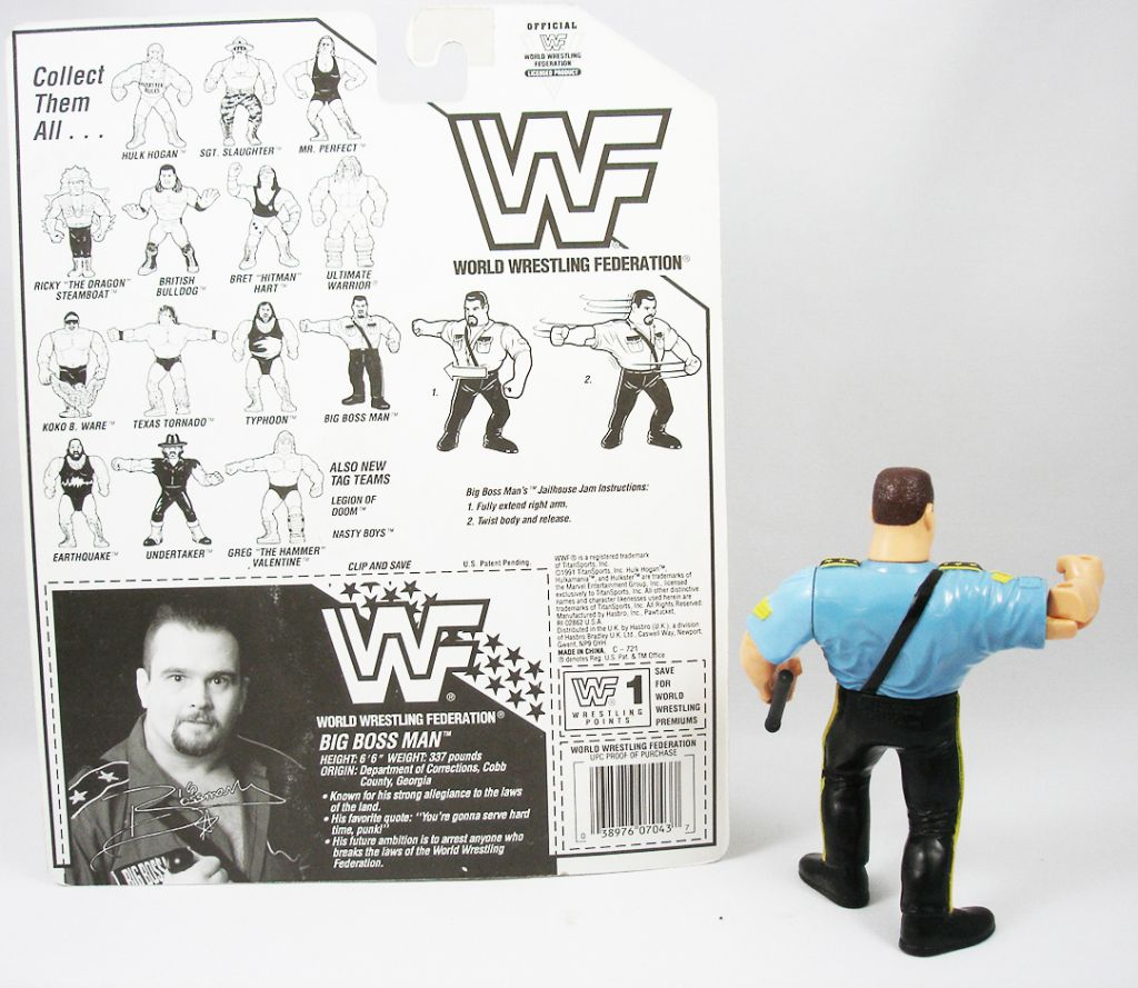 Wwf Hasbro Big Boss Man V 2 Loose Avec Carte Usa