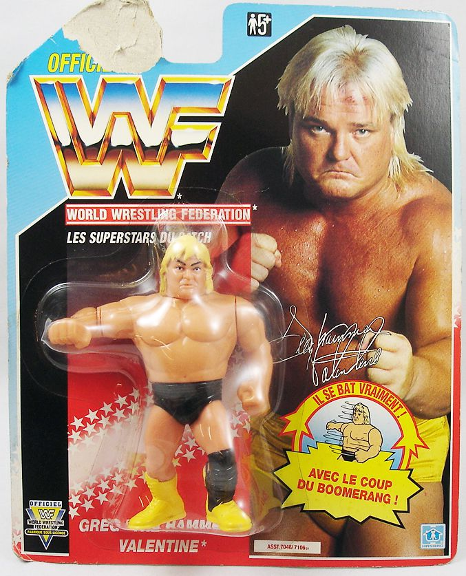 WWF Hasbro   Greg The Hammer Valentine (France Card). Loading Zoom