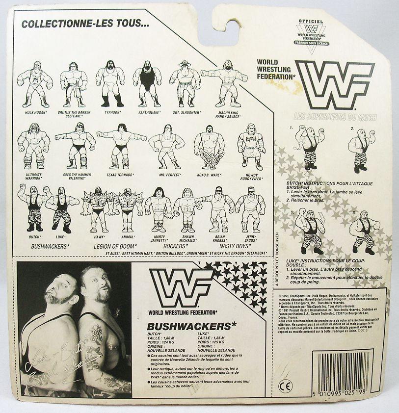 WWF Hasbro - The Bushwhackers : Butch & Luke (France card)