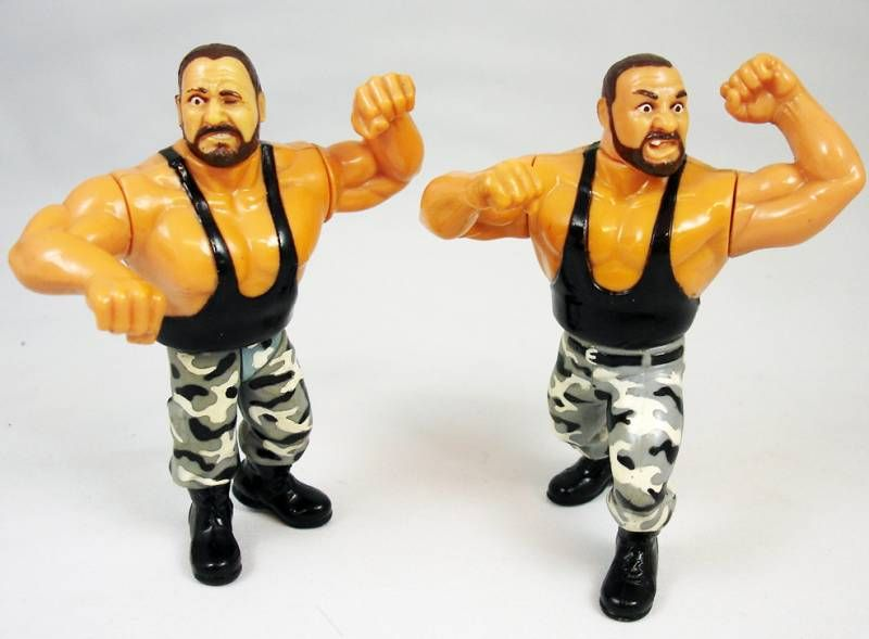 WWF Hasbro - The Bushwhackers : Luke & Butch \'\'version 1\'\' (loose)
