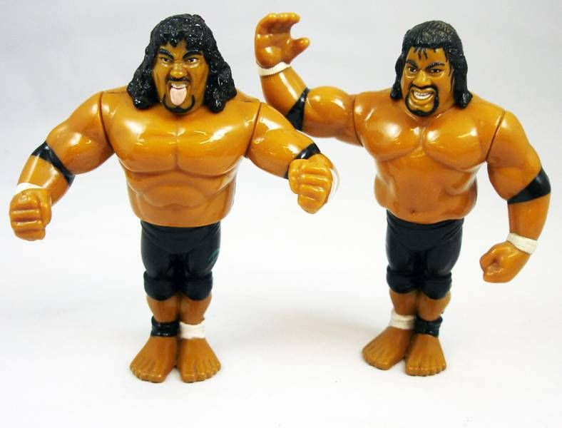 WWF Hasbro - The Headshrinkers : Samu & Fatu (loose)