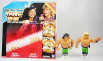 WWF Hasbro - The Rockers : Marty Jannetty & Shawn Michaels (loose with USA cardback)